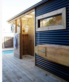 pool house from a storage container