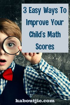 Math is an important skill that is used every day in many different ways - here's how to help improve your child's math scores.  #math #parenting