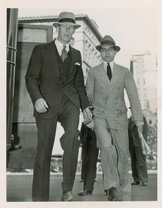 Lucky Luciano (right)