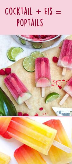 Jemand Lust auf Poptails? http://www.gofeminin.de/kochen-backen/poptails-wassereis-mit-cocktails-s1521760.html  #poptails #eis