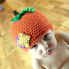 Lil'Pumkin Patch Hat Crochet Pattern