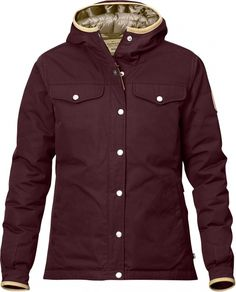 Features of the Fjallraven Women's Greenland No. 1 Down Jacket Classic jacket made from Eco Sleeve cuffs with buttoned adjustments and leather edging Vest Jacket, Rain Jacket, Fjallraven, Flappers, Formal, Backpacking, Mantel, Parka, Windbreaker