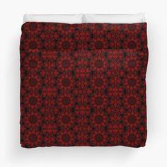 Bohemian Red Fractal Pattern