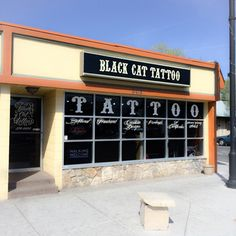 Tattoo Studio: Black Cat Tattoo - Reno NV Black Cloud Tattoo, Black Cat Tattoos, Black Clouds, Tattoo Shop, Tattoo Studio, Cats, Gatos, Kitty Cats, Cat