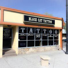 Tattoo Studio: Black Cat Tattoo - Reno NV Black Cloud Tattoo, Black Cat Tattoos, Black Clouds, Tattoo Shop, Tattoo Studio, Cats, Gatos, Cat, Kitty