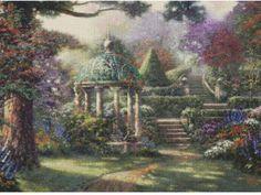 Gazebo Of Prayer - Thomas Kinkade Cross Stitch Kit
