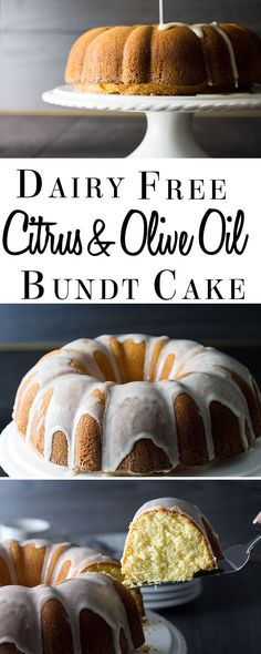 Citrus and Olive Oil Bundt Cake  - Erren's Kitchen - This delicious cake is completely dairy free; using olive oil keeps this cake really moist and the whipped eggs make it  beautifully fluffy