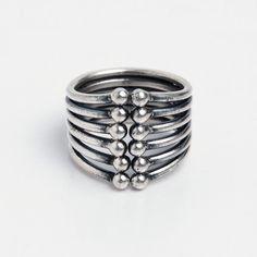 Inel Madhya, argint, india