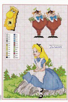 ENCANTOS EM PONTO CRUZ: Alice no País das Maravilhas. tons of free charts