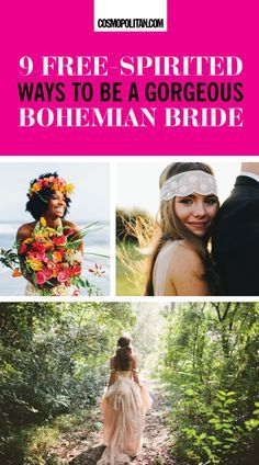 Bohemian weddings are perfect for the bride who wants something romantic, laid-back, ethereal, and non-traditional.