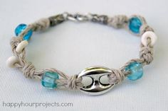 DIY Knotted Hemp Bracelet