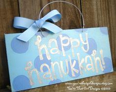 Happy Hanukkah Polka Dot Sign