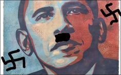 The Shepard Fairey Barack Obama image with added swastika and Hitler moustache. Internet rules and laws: the top 10, from Godwin to Poe