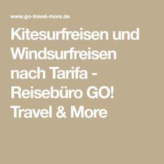 Kitesurfreisen und Windsurfreisen nach Tarifa - Reisebüro GO! Travel & More