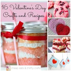 "16 Ways to Say ""I Love You"" with Valentine's Day Crafts and Recipes - What cute Valentine's Day ideas!"