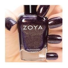 "THIS.  Zoya Nail Polish in Sansa (""Sansa can best be described as a deep eggplant w/a gold metallic sparkle, in the flawless full-coverage, liquid metal formula."")"