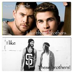 I Love Vic And Mike! & Yes they are way better than the hemsworth brothers.