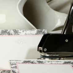Are you a bride to be or looking to get her a gift? A custom monogram embosser is a great gift idea. She can use it with her new initials on all of her thank you notes and cards.