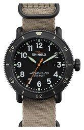Shinola 'The Runwell' Round Nylon Strap Watch, 42mm