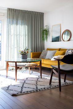 MY ATTIC voor KARWEI / raambekleding / gordijnen op maat / curtains / livingroom / woonkamer Fotografie: Marij Hessel