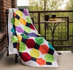Color Pop Quilt designed by Janet Page Kessler using Fossil Fern from Benartex