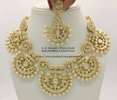 An all-polki pankhi set to blow heads off! Diamond Polki Jewelry | Bridal Sets | Vilandi Jewelry | Traditional Indian Jewelry | Wedding Jewelry | Kundan Meena Jewelry | Jadau | Jadtar | Hallmarked | Gold | Diamond Polki | Meenakari | Jewellery