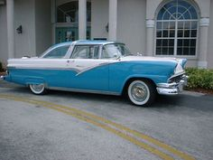 1956 Ford Crown Victoria, Blue and White.