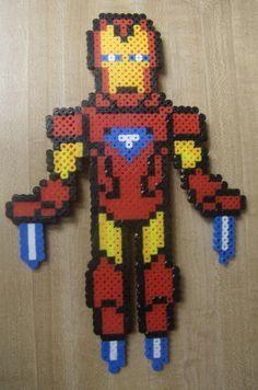 Iron Man perler beads by Geekapalooza