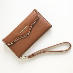 NWB Rebecca Minkoff Genuine Leather Folio Wristlet iPhone 6 Brown | Cell Phones & Accessories, Cell Phone Accessories, Cases, Covers & Skins | eBay!