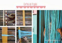 4 complementos de #camping DIY: #cortina de #trapillo