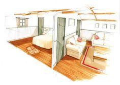 The Wayfarer Hut - the larger version of the Shepherds Hut
