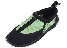 Cool Sunville Kid's Flat Adjustable Heel Aqua Sock Water Shoes Green 13