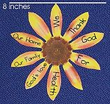 Sunday School Thanksgiving Craft, Make The Thankful Sunflower