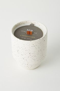 Akemi Ceramic Candle by Anthropologie in White Size: L, Fragrance Candle Branding, Candle Packaging, Candle Labels, Candle Jars, Candle Shop, Large Candles, Diy Candles, Scented Candles, Decorative Candles