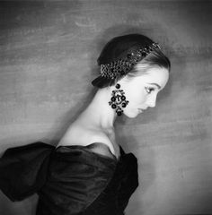 Elsa Martinelli wearing Givenchy in a 1954 photo by Clifford Coffin for Vogue