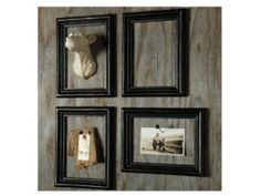 These open front frames are a fun original way to turn 2 and 3D objects into art.