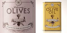 Prince Albert Olives & Oil. Nice attention to detail. #packagedesign #typography