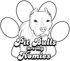 Pitbull Dog Colouring Pages onO43 - Coloring Pages For Kids