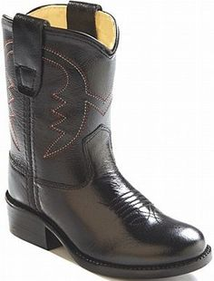 Old West Round Toe Boots: Black Western - SPECIAL ORDER - Small in the Saddle