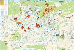 Granada Map Tourist Attractions Southern Spain Pinterest