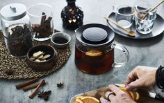 Give your guests a warm welcome with a pot of spiced tea. Find this recipe using cinnamon and orange at IKEA.com #IKEAIDEAS