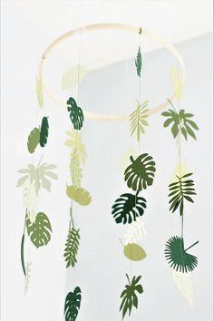 Tropische mobiele baby mobile palm blad mobiele tropische