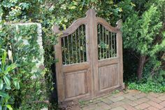 This beautiful old timber gate with iron bars can be repurposed as a unique and interesting trellis for your climbing plants or just simply as wall art. It could be used as a gate, and although its not fragile by any means, it is very special and not suited to a busy gateway that might get slammed shut. | eBay!