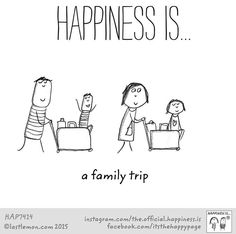 Happiness is a family trip