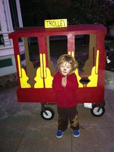 Daniel Tiger Trolley Halloween costume- Need to dress up the Radio Flyer for Sully's Halloween costume. Sully Halloween Costume, First Halloween, Halloween 2016, Holidays Halloween, Halloween Costumes For Kids, Halloween Party, Daniel Tiger Costume, Daniel Tiger Party, Daniel Tiger Birthday