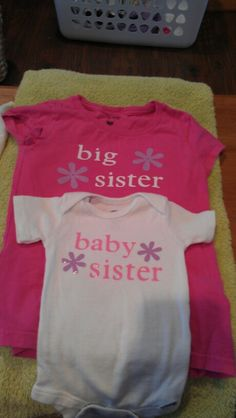 Shirts I made for my girls using t-shirt vinyl and my cricut!