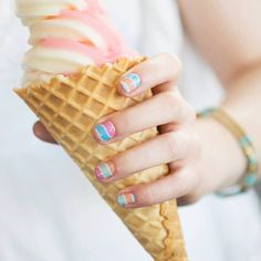 July's Sister's Style Exclusive~ Fruit Sorbet  #Jamberry Nails #Fruit Sorbet #icecream #nail art #nail design