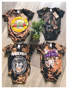 Baby Kids Clothes, Toddler Girl Outfits, Boy Outfits, Band Tee Outfits, Bleach Shirts, Baby Boy Rooms, Baby Crafts, Band Tees, Baby Fever