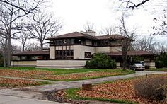 The Ward W. Willits House is a building designed by architect Frank Lloyd Wright. Designed in 1901, the Willits house is considered the first of the great Prairie houses. Built in Highland Park, Illinois, the house presents a symmetrical facade to the street. One of the more interesting points about the house is Wright's ability to seamlessly combine architecture with nature. The plan is a cruciate with four wings extending out from a central fireplace.