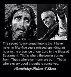 Venerable Archbishop Fulton J. Sheen